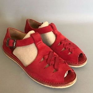 Frye Holly Fisherman Sandals - in red